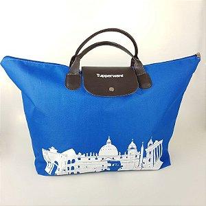 Tupperware Bolsa Azul e Branco