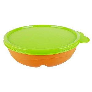 Tupperware Pratinho com Divisórias 310ml Laranja e Verde