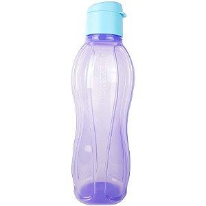 Tupperware Eco Tupper Garrafa Plus Hortência 1 litro Lilás e Azul