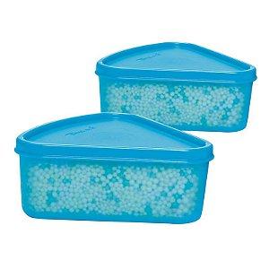 Tupperware Refri Box Triangular 250ml kit 2 peças