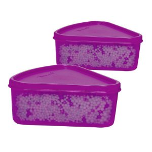 Tupperware Refri Box Triangular 250ml kit 2 peças Roxo