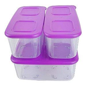 Tupperware Clear Mate Kit 3 Peças