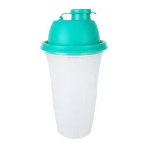 Tupperware Quick Shake 500ml Transparente Tampa Verde