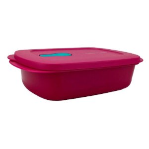 Tupperware Cristalwave Retangular 1 litro Roxo