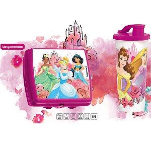 Tupperware Copo com Bico Princesas 470ml + Porta Sanduíche