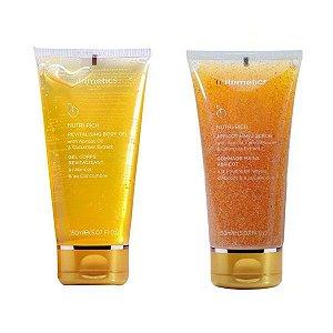 Nutrimetics Gel Hidratante Corporal 150ml + Gel Esfoliante para Mãos com Semente de Damasco 150ml Grátis