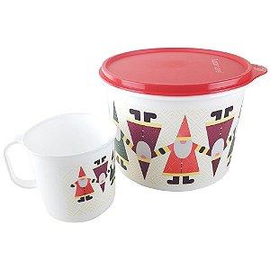 Tupperware Caixa Natalina 2,4 litros + Caneca 350ml