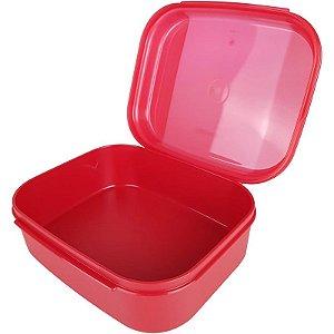 Tupperware Visual Box Pequeno 550ml Vermelho