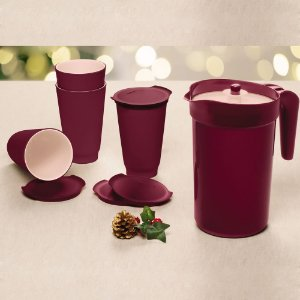 Tupperware Copo Allegra + A Jarra Colors Vinho