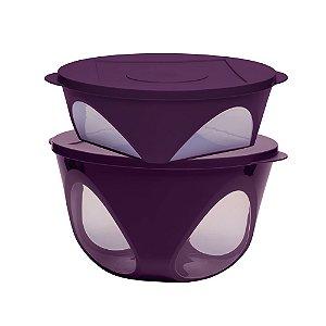 Tupperware Tigela Outdoor kit 2 Peças Roxo Púrpura