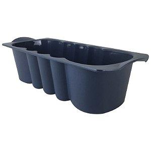 Tupperware Forma de Silicone 1,5 litro Azul Marinho para Bolo Importada