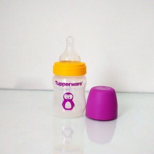 Tupperware Mamadeira Infantil Pinguim 150ml Roxo