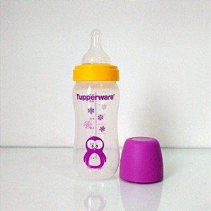 Tupperware Mamadeira Infantil Pinguim 270ml Roxo com 3 Fluxos