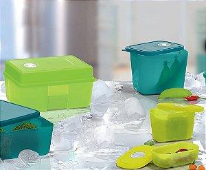 Tupperware Kit BEA Freezertime Nível 1 Verde 4 Peças