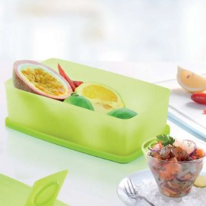 Tupperware Caixa Ideal Verde Neon Limão 1,4 litro