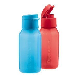 Tupperware Eco Tupper Plus 350ml Azul e Vermelha kit 2 Peças