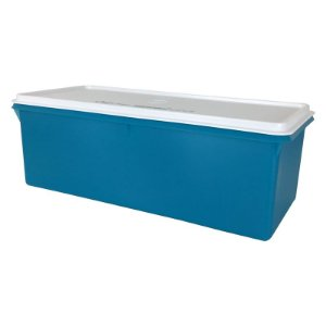 Tupperware Mega Caixa 6 Litros Azul e Tampa Branca