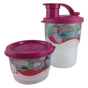 Tupperware Copo Colors com Bico 225ml + Potinho 140ml Fluffy kit 2 Peças