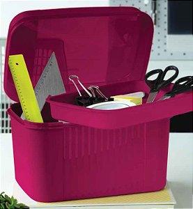 Tupperware Visual Box com Bandeja 4,5 Litros Vinho
