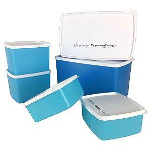 Tupperware PDA 02/2020 Jeitosos Freezer Nível 2  kit 6 peças