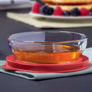 Tupperware Tigela Clear 180ml Vermelha