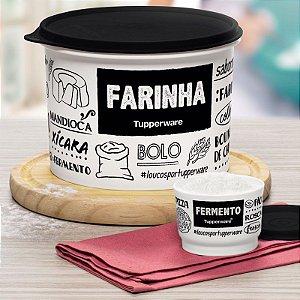 Tupperware Caixa Farinha PB Fun 1,8kg + Potinho Fermento 140ml