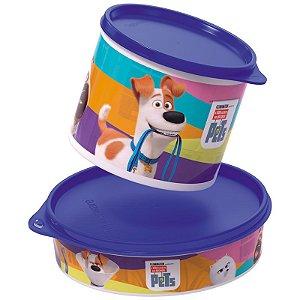 Tupperware Redondinha Pets 500ml + Pratinho 500ml