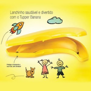 Tupperware Porta Banana Amarelo