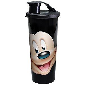 Tupperware Mickey virou Copo 470ml preto e vermelho