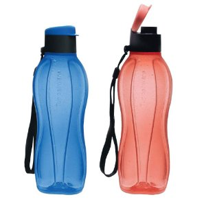 Garrafa Tupperware Eco Tupper Plus 500ml Azul e Vermelha kit 2 Peças
