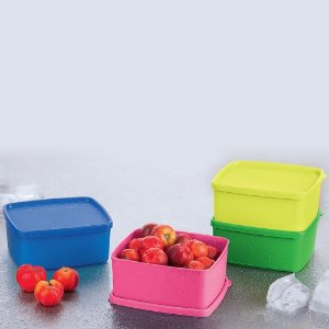 Tupperware Kit Freezer Jeitosinho 500ml 4 peças