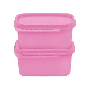 Tupperware Basic Line 160ml Rosa kit 2 Peças