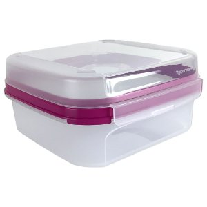 Tupperware Modular Quadrado Plus 1,2 Litro Rosa