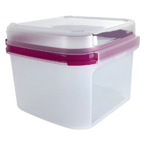 Tupperware Modular Quadrado Plus 2,6 Litros Rosa