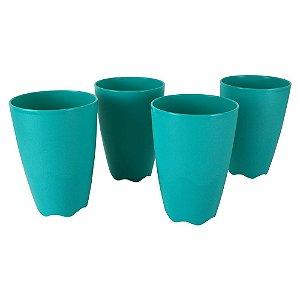 Tupperware Copo Floresta 525ml Verde kit 4 Peças