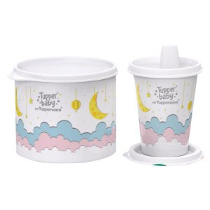 Tupperware Conjunto Redondinha Baby 500ml + Copinho Com Bico Baby 200ml