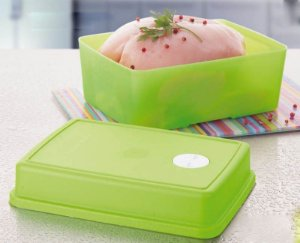 Tupperware Freezertime 1,5 litro Verde Tropical tampa alta