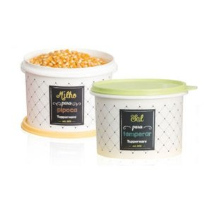 Tupperware Kit Caixa Milho e Sal Bistrô 1kg