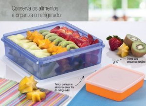 Tupperware Kit Caixa Versátil 2,5 Litros + Refri Box 400 ml