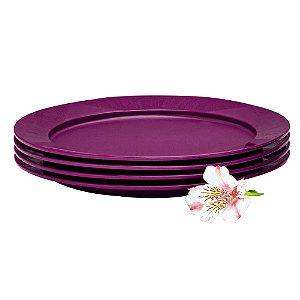 Tupperware Prato Outdoor Roxo kit 4 Peças