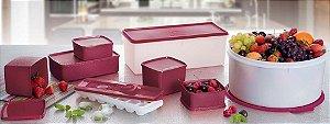 Tupperware Kit BEA Jeitosos Freezer 8 Peças Nível 3 Marsala 12/2015