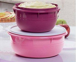 Tupperware Tigela Batedeira 3,2 e 2 litros Rosa e Marsala