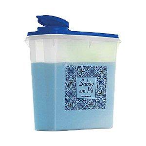 Tupperware Porta Sabão em Pó Azulejo 2kg