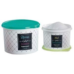 Tupperware Par Perfeito Caixa Arroz 2kg + Sal 1kg Bistrô Kit 2 peças