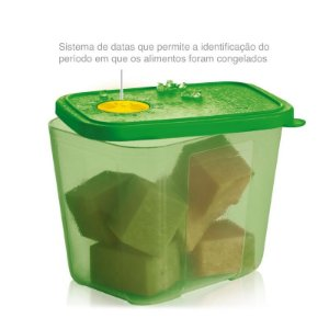 Tupperware Freezertime 1 litro Verde Transparente