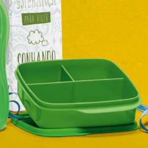 Tupperware Basic Line com Divisórias 550ml Verde