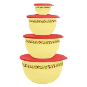 Tupperware Tigela Murano Verão Kit 4 Peças