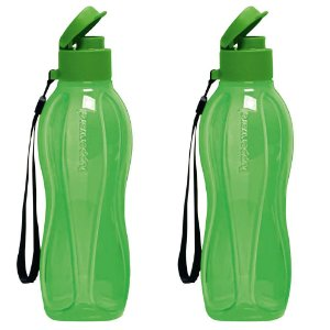 Garrafa Tupperware Eco Tupper Plus 500ml Verde Kit 2 Peças