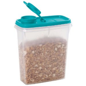 Tupperware Porta Cereais 850ml Tampa Verde
