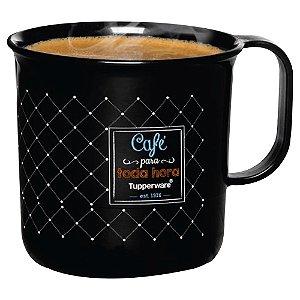 Tupperware Caneca Café Bistrô 350ml Preta